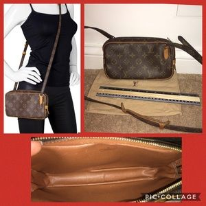 💯 authentic LV marly bandoulier